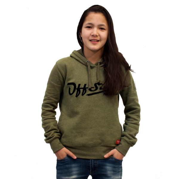 Panna Queen .. Hoodie Slim Fit Moss Green
